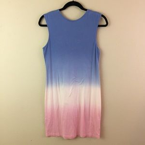 YFB Tank Dress Pink Blue Ombre NWT